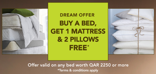 Buy a bed, get a free mattress and two pillows
