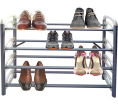 Lake White 4-tier Shoe Rack