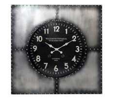 Iron Plaque Wall Clock