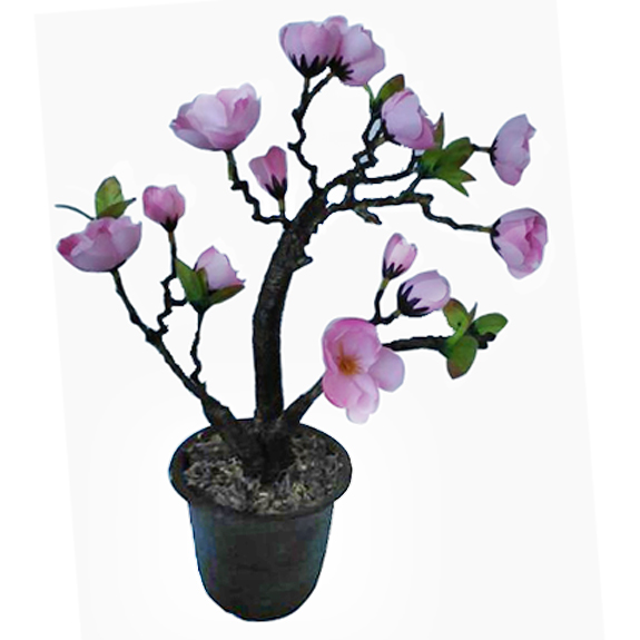 maisie decorative pot with flower - Decorative Flowers