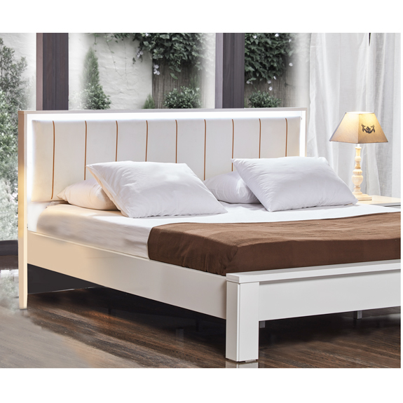 snowy 180x200 bed white