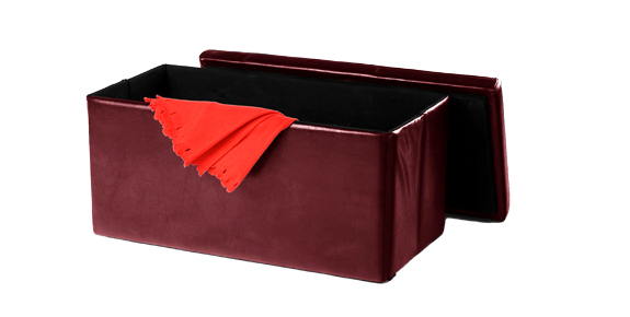 Expanse Foldable Storage Ottoman - Burgundy - Expanse Foldable Storage Ottoman - Burgundy Home Box