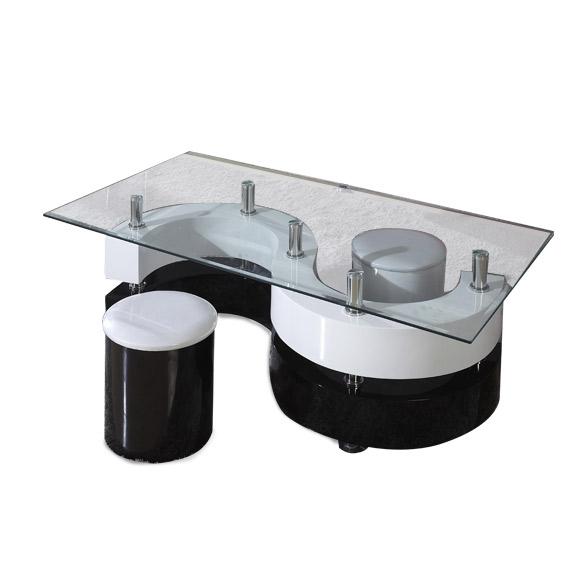Yinyang Coffee Table - Black & White - Yinyang Coffee Table - Black & White Home Box