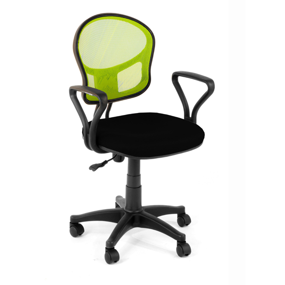 Delighful Lime Green Office Furniture Mesh Chair In C With