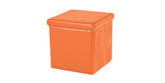Space Folding Storage Ottoman - Orange - Space Folding Storage Ottoman - Orange Home Box