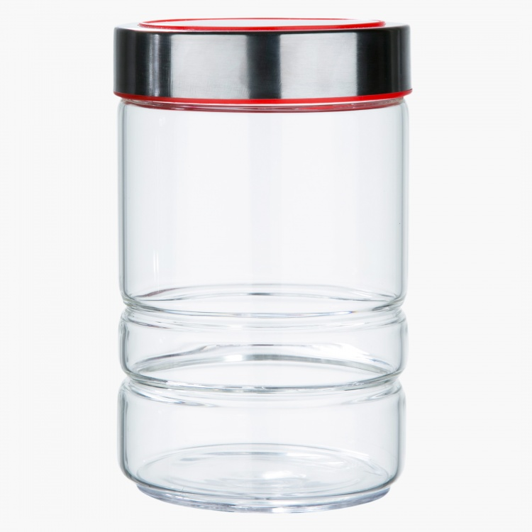 Ridge Jar with Lid