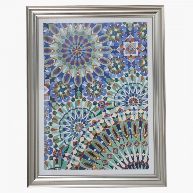 Arabesque Ornate Framed Canvas Print - 60x2.7x90 cms
