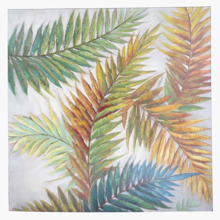 Autumn Ferns Handmade Oil Painting - 100x3.5x100 cms