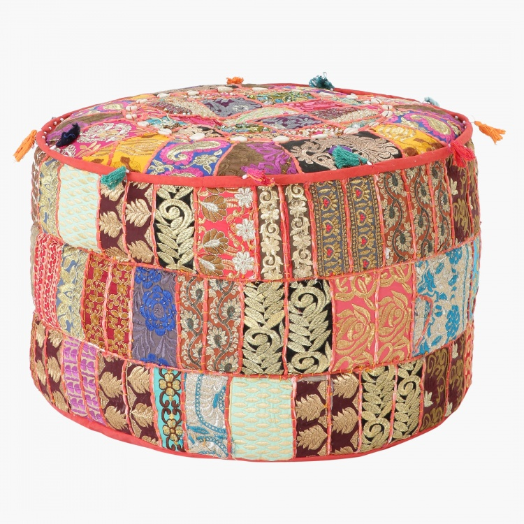 Boho Round Floor Cushion - 56x56x30 cms