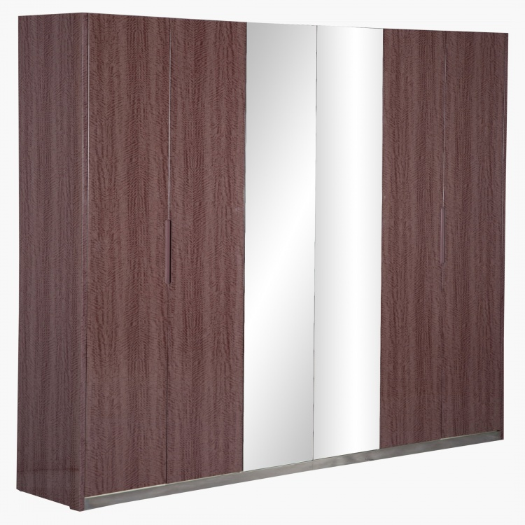 Caroline 6-Door Mirrored Wardrobe