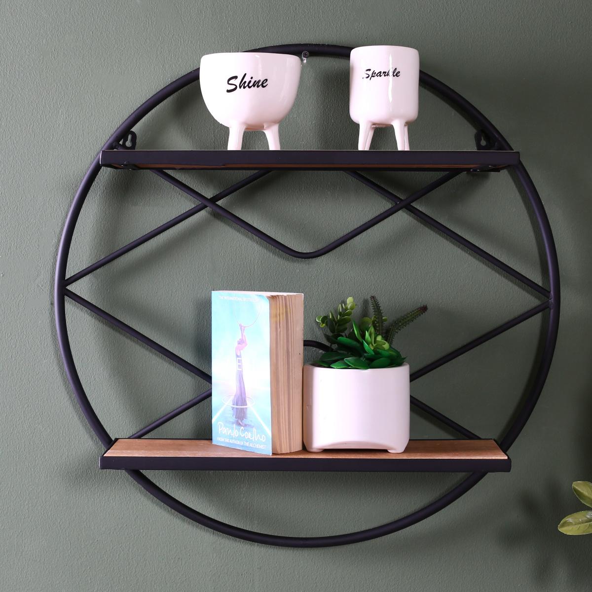 Iris wall shelf - Walnut