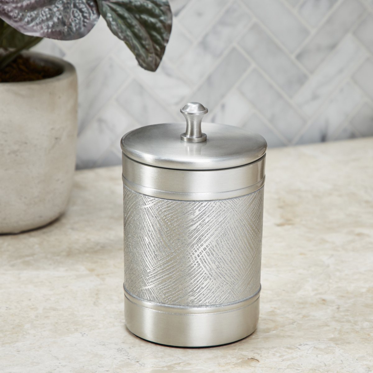 Ethnicity Cotton Jar 9x9x14cm - Nickel