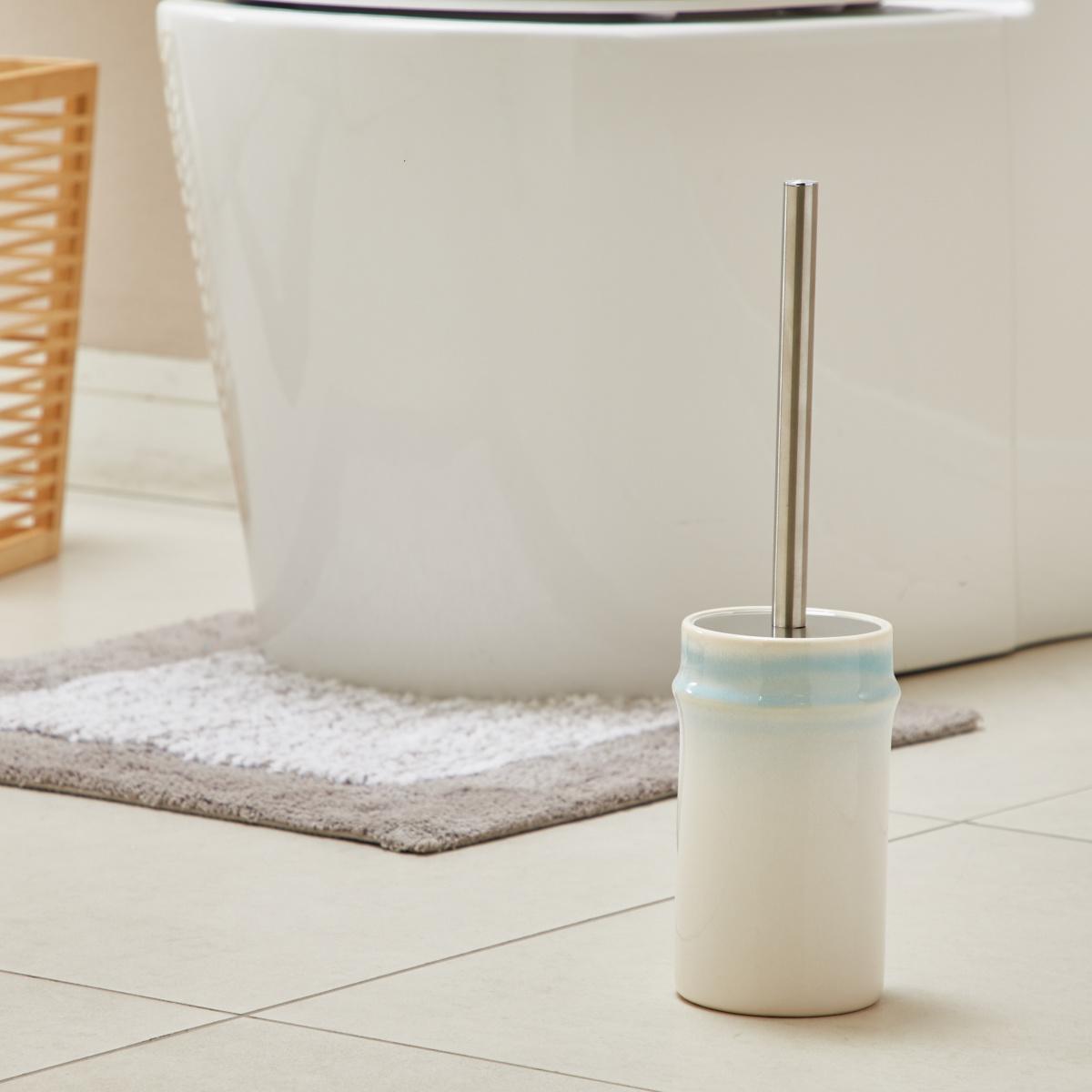 Oceania Toilet Brush Holder 10.1x10.1x17.5cm - Ice Blue