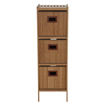 Bamboo Bathroom Cabinet with 3 Drawers