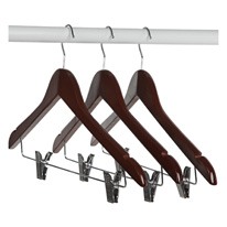 Clothes Hangers with Clips - Set of 3