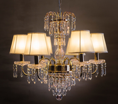 Eternity Metal and Crystal 6 light chandelier